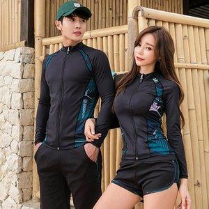 diving cremallera dividida pantalones de manga larga de natación par medusas traje traje de buceo de secado rápido