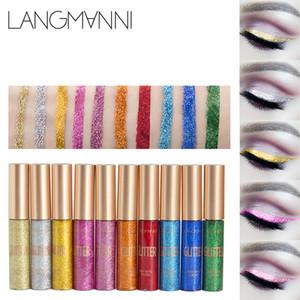 12 Cor / Lot Líquido Glitter Eyeliner Lápis Ouro Branco Cor Brilhante Shimmer Eye Liner Maquiagem Pen Makeup Tools Factory A2803 Atacado