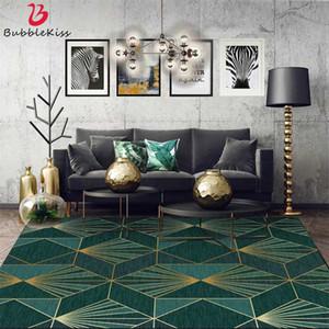 Bubble Поцелуй Nordic Modern Dark Green Carpet Gold Line настраиваемый свет роскошный номер украшения Подростковая Нескользящая легкоочищаемую