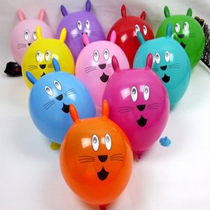 Multicolor Helium Balloon Animal Rabbit Head Printed Ballon Latex 12inch Cute Cartoon Balls Decoration Birthday Party Kids Toy