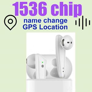 Alta calidad 2nd generación cambiar nombre GPS posicionamiento carga inalámbrica auriculares Bluetooth con Sensor inteligente mate H1 1536 chip i7s