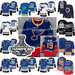 2019 Stanley Cup Champions 세인트 루이스 블루스 90 년대 복고풍 Binnington Ryan O'Reilly Vladimir Tarasenko Alex Pietrangelo Schenn Perron Jerseys