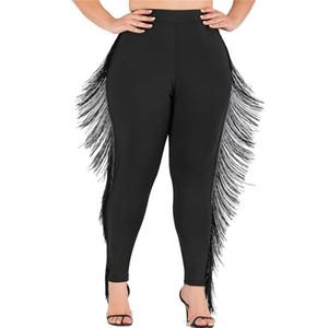 Püskül Casual Gevşek Bayanlar Kalem Pantolon olan kadınlar Artı boyutu Tozluklar Moda Tasarımcısı Kadın Capris