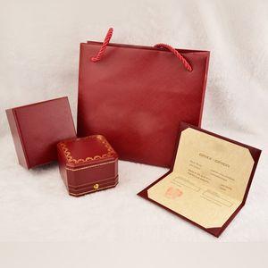 Cajas de brazalete de amor de moda, caja de anillo de amor y caja de embalaje de joyería de alta calidad caja naranja roja