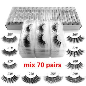 Wholesale Eyelashes 3d Mink Lashes Natural Mink Eyelashes Makeup Cilios Dramatic False free DHL