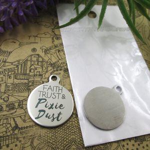 40pcs - «Faith Trust Pixie Dust» прелесть нержавеющей стали больше стиля для выбора DIY очаровывает подвески для ожерелья
