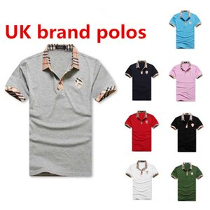 2019 mens Designer brand Polos men's summer new wave fashion pop stretch Slim fashion small lapel short-sleeved T-shirt simple version