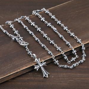 100% plata 925 joyas de estilo de punk de la moda collar de la personalidad de hip hop cruz de estilo para enviar regalo del amante 2020 nueva venta caliente