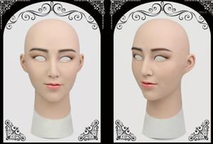 erkek gerçek Cadılar Bayramı parti malzemeleri Silikon Female1 için Defne crossdresser silikon kadın maske gerçekçi transseksüel lateks seksi Cosplay