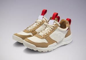 Otantik Tom Sachs x Mars Yard 2.0 TS Erkek Kadın Koşu ayakkabı Doğal Spor Kırmızı Akçaağaç 2017 Ortak Sınırlı Yayın Sneakers AA2261-100
