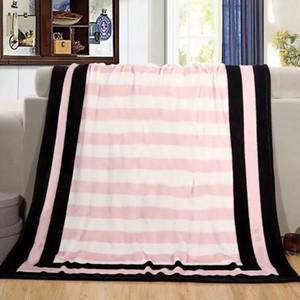 Capa cobertor VS impressão carta Coral fleece Blanket moda splice Flanela viajar cobertor de ar condicionado fábrica atacado