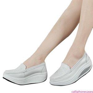 ZHENZHOU пружинной натуральной кожи матери случайной обувь женщины качаться обувью белый медсестры обувь скольжение плюс размер