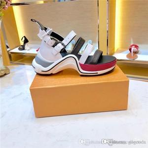 2019 Son Archlight Kadın Sneaker Sandalet, Mükemmel Bahar Aksesuar olan Dört Buzağı Deri Sapanlar ile Düz Sandalet Moda Slaytlar