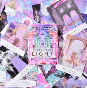 44 Pcs A Oracle Tarot folhas de trabalho sua plataforma Luz do Oracle cartão Jogos de Tabuleiro Cartas de Baralho Jogo Entretenimento