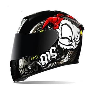 Шлем мотоцикла анфас Мото Каски Двойной Visor Гонки Мотокросс шлем Casco Modular Мото шлем Мотоцикл Capacete