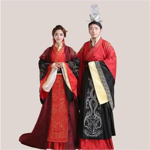 Costume di seta di cotone di alta qualità Antica Cina Abbigliamento Cinese tradizionale matrimonio Hanfu Costume per coppie cinesi oltremare