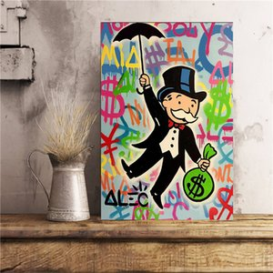 Alec Monopolies Riding Money Art Canvas Painting Print Bedroom Home Decoration Modern Wall Art Oil Painting Poster Pictures