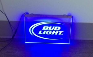 B-08 BUD LIGHT LED Neon Light Sign Decor Livraison gratuite Dropshipping En Gros 7 couleurs à choisir