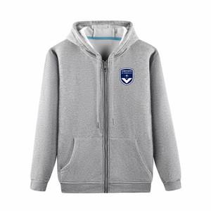 Bordeaux Futebol jaquetas de Futebol Sports jaqueta de formação Lazer Moda capuz casacos de manga comprida de futebol jaquetas Fãs Tops