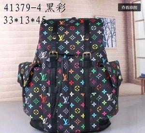 Designer-Rucksack für Männer und Frauen echtes Leder-Luxus-Rucksack neue Art und Weise Schulranzen