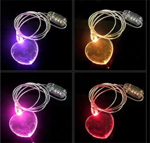 Partido colgante LED iluminan Collar de destello de acrílico Material danza Potencia Persistencia de plástico de colores festival de música de las ventas calientes 4 5hlC1