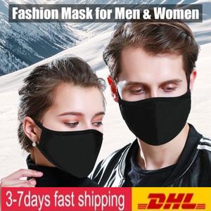 EEUU Stock! Ciclismo El uso de anti-polvo boca de algodón Mascarilla PM 2.5 Máscara Máscara Diseñador Unisex Hombre Mujer Negro Blanco Moda