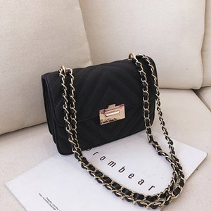New Small black bag lady-like temperamento moda concisa versione coreana del diamante catena catena diagonale Baitasen
