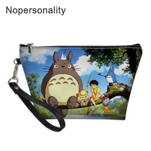 Nopersonality My Neighbro Totoro Cartoon Cosmetic Bag for Women Neceser Travel Organizer Female Storage Make up Cases