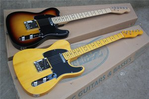 6-String Electric Guitar with Tobacco Sunburst Color or Vintage Yellow Color,Maple Fingerboard,can be Customized