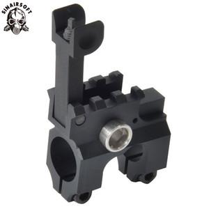 Тактический зажим-на газовый блок с откидной передней взгляда CNC смоделированной алюминия железа черный для винтовки пейнтбол охота коллиматорный прицел