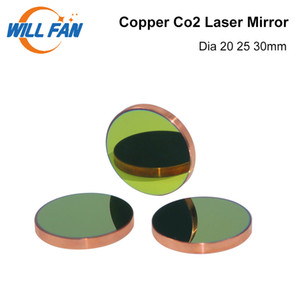 Will Fan Diameter 20 25 30mm Copper Reflect Mirror 3pcs lot Cu Laser Mirror For Co2 Laser Cutter Engraving Machine