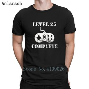 Seviye 25 Komple 25 Doğum Tişört Kırışıklık Karşıtı Baskı Streetwear Tişört İçin Erkekler Kawaii 2018 Boyut S-3XL