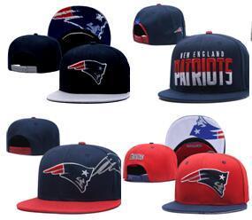 2019 moda New England Béisbol Snapback Todo el equipo de Fútbol Snap Back Hats Womens Mens Flat Cap strapback Hip Hop sombrero Sombreros deportivos 02
