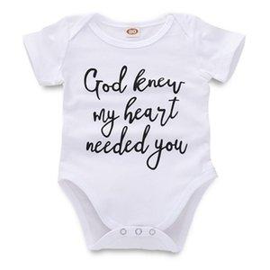 Newborn Jumpsuit Baby Rompers Infant Baby Girl Boy Designer Clothes Letter Printed White Short Sleeve Toddler 43