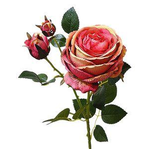 De lujo grandes flores de peonía rosa flores artificiales para decoraciones de la boda flores de flores falsas blancas Fleur Artificielle Flores