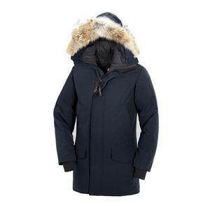 2019Canad Inverno Fourrure de Down Parka Homme Jassen Chaquetas Casacos Big Fur com capuz Fourrure Manteau Canadá Down Jacket Brasão Hiver Doudoune