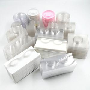 toptan açık / beyaz kirpik tepsiler bir plastik vizon kirpik ambalaj kutusu kare durumda yığın satıcılar için tutucu kirpik tepsi kirpiklere