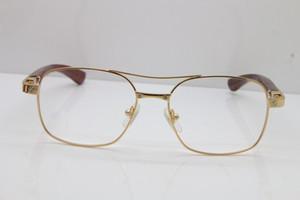 نظارات بالجملة، إطارات مصمم جولة نظارات معدنية كارتر سانتوس DE بيج بوبينغ] الخشب 5037821 الأصل نظارات في الذهب