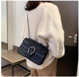 2019 nueva moda europea americana caliente Explosión de cuero genuino Bolsos MUJERES bolso de hombro bolsos de mujer Bolso diagonal de hombro v20