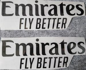 EMİRLİKLERİ FLY DAHA İYİ damgalama ön sponsoru logolar çıkartmalar pazıbentler futbol rozetleri baskılı kol bandı siyah etkilendim futbol yamalar yazdırma'den
