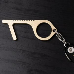 Maniglia nuovo modo di Keychain del metallo Opener ascensore Clean Touch Portachiavi Porta Catena non chiave di contatto per la sicurezza