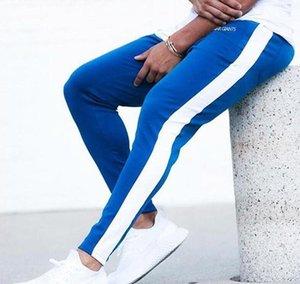 ENJPOWER nuevos hombres pantalones de Hip Hop ropa de la aptitud basculadores pantalón lateral raya de la manera clásica de Calle Pantalones deportivos Pantalones LY191205