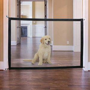 71 43x28\'\' Folding Pet Mesh Gate Dog Baby Safe Net Fence Enclosure W  Hook