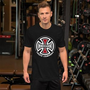 erkekler için Baskılı Bağımsız Kamyon Firma Demir Haç Kaykay tshirt Orijinal Hipster erkekler gömlek tee Klasik Normal soğutmak