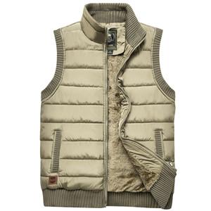 Plus récent 2019 Automne Hiver Hommes Manteau chaud manches Veste Hommes Casual Veste Manteau Polaire Army Green Taille 5XL Big Waistcoat