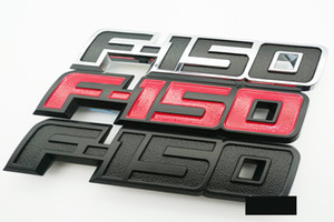 1x Черный Красный Серебристый F150 автомобилей стороне наклейки Tailgate Задняя эмблема значок Письмо Премиум 3D Nameplate Замена 2009-2014 F150