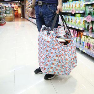 Proteção dobrável Supermarket Oxford Bag Trolley Sacola de compras Designer-Ambiental Compras Environmental Recebimento Imprimir Itlnv