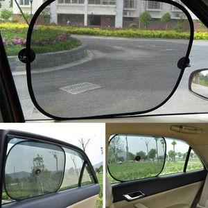 Black Side Window Car Sun Shades Rear Window Sunshades Cover Mesh Visor Shield Screen Interior UV Protection