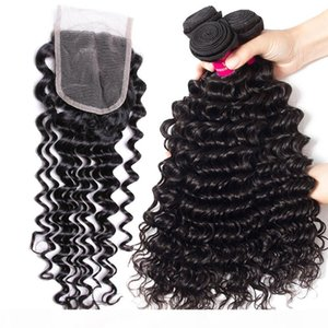 Brazilian Peruvian Malaysian Indian Straight Body Wave Loose Virgin Human Hair Weaves With 4X4 Lace Closure Unprocessed Brazilian Remy Hair