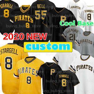 Benutzerdefinierte 8 Willie Stargell Jersey 21 Roberto Clemente 55 Josh Bell 27 Kent Tekulve Chris Archer Star Marte Gerrit Cole McCutchen Baseball